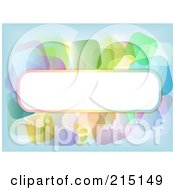 Royalty Free RF Clipart Illustration Of A Blank Text Bar With Transparent Colorful Squares Over Blue