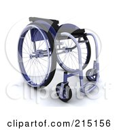 Royalty Free RF Clipart Illustration Of A 3d Blue Wheelchair