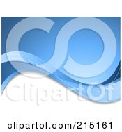 Royalty Free RF Clipart Illustration Of A Background Of Blue And White Waves by KJ Pargeter