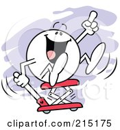 Royalty Free RF Clipart Illustration Of A Moodie Character Getting A Lift