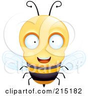 Royalty Free RF Clipart Illustration Of A Friendly And Curious Bee by Cory Thoman