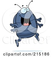 Royalty Free RF Clipart Illustration Of An Excited Pillbug Jumping