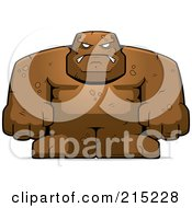Royalty Free RF Clipart Illustration Of A Strong Mud Golem