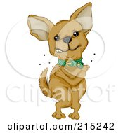 Royalty Free RF Clipart Illustration Of A Cute Chihuahua Standing And Itching Fleas