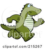 Royalty Free RF Clipart Illustration Of An Alligator Running Upright by Cory Thoman
