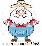 Royalty Free RF Clipart Illustration Of A Plump Senior Farmer by Cory Thoman