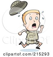 Royalty Free RF Clipart Illustration Of A Blond Safari Boy Running