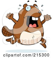 Royalty Free RF Clipart Illustration Of A Stressed Beaver Panicking by Cory Thoman