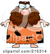Plump Caveman With A Beard by Cory Thoman