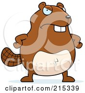 Royalty Free RF Clipart Illustration Of A Grumpy Beaver by Cory Thoman