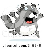 Royalty Free RF Clipart Illustration Of A Scared Raccoon Panicking by Cory Thoman