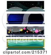 R Oyalty Free RF Clipart Illustration Of A Digital Collage Of Four Laptop Screen Banners by BNP Design Studio