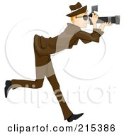 Royalty Free RF Clipart Illustration Of A Paparazzi Man Taking Pictures