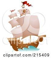 Pirate Ship At Full Sail
