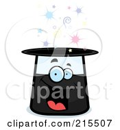Royalty Free RF Clipart Illustration Of A Happy Smiling Magic Hat Character by Cory Thoman