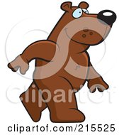 Royalty Free RF Clipart Illustration Of A Bear Walking Upright