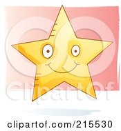 Royalty Free RF Clipart Illustration Of A Cute Smiling Star