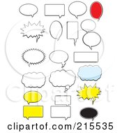 Royalty Free RF Clipart Illustration Of A Digital Collage Of Chat Thought And Messenger Bubbles