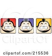 Digital Collage Of Sumo Guy Faces