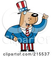 Royalty Free RF Clipart Illustration Of An Uncle Sam Dog In A Suit by Cory Thoman