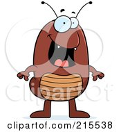 Royalty Free RF Clipart Illustration Of A Happy Flea Standing by Cory Thoman