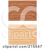 Royalty Free RF Clipart Illustration Of A Digital Collage Of Two Wooden Floor Patterns by Cory Thoman