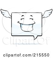 Royalty Free RF Clipart Illustration Of A Happy Smiling Winged Chat Window Character