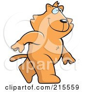 Royalty Free RF Clipart Illustration Of A Cat Walking Upright