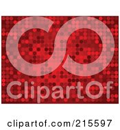 Royalty Free RF Clipart Illustration Of A Background Of Sparkly Red Dots On Red
