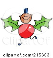 Royalty Free RF Clipart Illustration Of A Childs Sketch Of A Boy With A Holly Body by Prawny