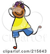 Royalty Free RF Clipart Illustration Of A Childs Sketch Of A Boy With Head Lice