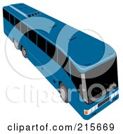 Royalty Free RF Clipart Illustration Of A Blue City Bus 1