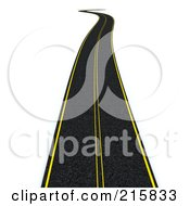 Royalty Free RF Clipart Illustration Of A 3d Road Leading Off Into The Distance