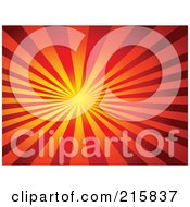 Royalty Free RF Clipart Illustration Of A Background Of Thick Yellow Orange And Red Rays Shining From A Bright Center by KJ Pargeter