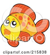 Royalty Free RF Clipart Illustration Of A Cute Orange Fish With Spots And Lips