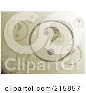 Royalty Free RF Clipart Illustration Of A Background Of Grungy Sepia Toned Question Mark Bubbles by oboy