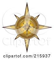 Ornate Golden Compass