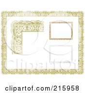 Royalty Free RF Clipart Illustration Of A Digital Collage Of Orange Certificate Borders And Frames