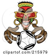 Royalty Free RF Clipart Illustration Of An African Fortune Teller Looking Into A Crystal Ball
