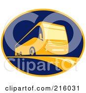 Royalty Free RF Clipart Illustration Of A Retro Coach Camper Logo by patrimonio #COLLC216031-0113