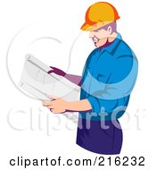 Construction Worker Reading Plans