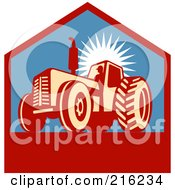 Royalty Free RF Clipart Illustration Of A Retro Tractor Logo