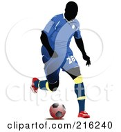 Royalty Free RF Clipart Illustration Of A Faceless Soccer Football Player 7