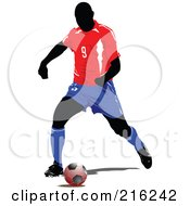 Royalty Free RF Clipart Illustration Of A Faceless Soccer Football Player 1