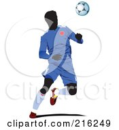 Royalty Free RF Clipart Illustration Of A Faceless Soccer Football Player 10