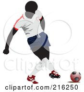 Royalty Free RF Clipart Illustration Of A Faceless Soccer Football Player 6