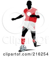 Royalty Free RF Clipart Illustration Of A Faceless Soccer Football Player 11