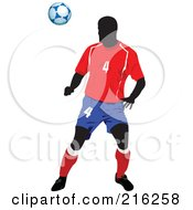 Royalty Free RF Clipart Illustration Of A Faceless Soccer Football Player 5