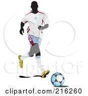 Royalty Free RF Clipart Illustration Of A Faceless Soccer Football Player 12