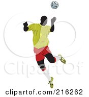 Royalty Free RF Clipart Illustration Of A Faceless Soccer Football Player 2